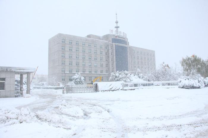 大雪中的沃尔华集团办公楼