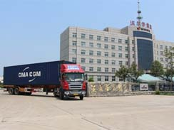 热烈坠允郑贺沃尔华集团 60台轮式挖掘机批量出口泰国